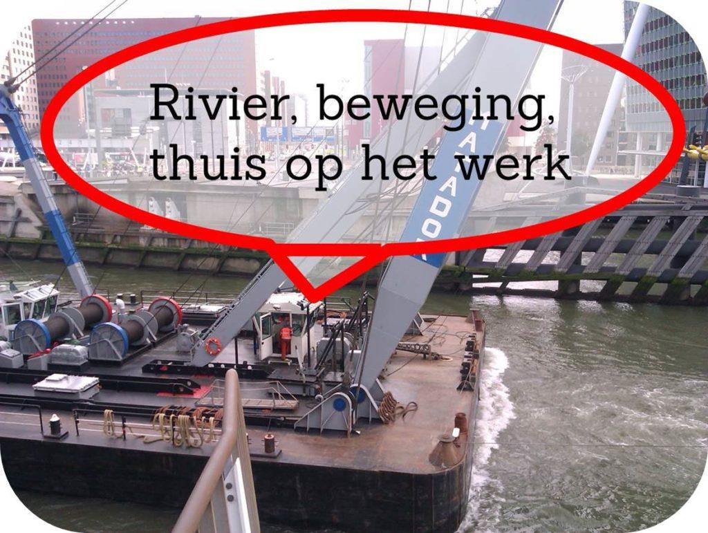 Werkgeluk, leerdoelen, voice dialogue, Rotterdam-Zuid, Rivier, beweging, thuis op het werk