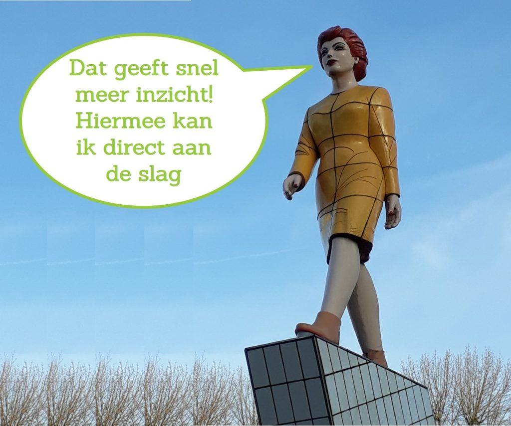 growth mindset, leerdoelen, werkgeluk, levensgeluk, rotterdam-zuid, zuidplein vrouw met tekstballon