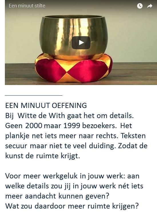 Werkgeluk, leerdoelen, voice dialogue, Rotterdam-Zuid, 1 minuut oefening