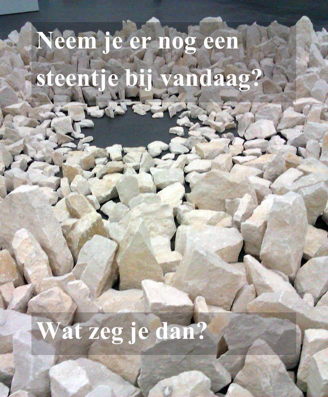 Werkgeluk, leerdoelen, voice dialogue, Rotterdam-Zuid, Neem je er nog een steentje bij vandaag? Wat zeg je dan?