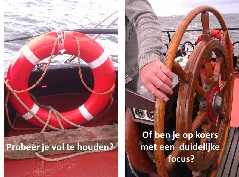 Werkgeluk, leerdoelen, voice dialogue, Rotterdam-Zuid, Probeer je vol te houden of ben je op koers met een duidelijke focus?