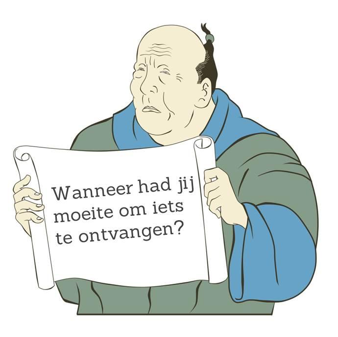 Werkgeluk, leerdoelen, voice dialogue, Rotterdam-Zuid, Wanneer had jij moeite om iets te ontvangen?